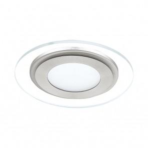 EGLO Pineda 1, nickel-matt, rund, Durchmesser: 14,5 cm