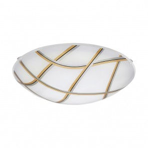 Margitta 1, Ø 31,5 cm, LED, schwarz-silber-gold