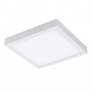 Fueva 1, 30 x 30 cm, Höhe 4 cm, IP44, warm white, weiß