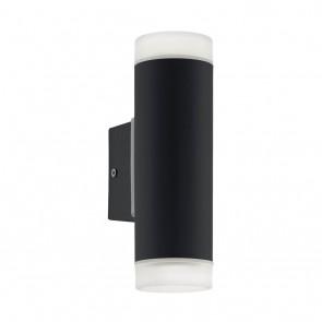 Riga-LED, Höhe 20,5 cm, IP44, Schwarz