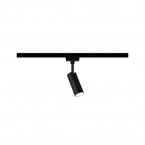 URail Spot Tubo 1x5W schwarz matt/chrom 230V Metall 4000K nicht dimmbar