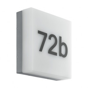 Cornale mit Sensor 21,5 x 21,5 cm anthrazit 1-flammig quadratisch