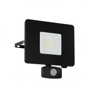 Faedo 3, LED, mit Bewegungsmelder, 30W, schwarz