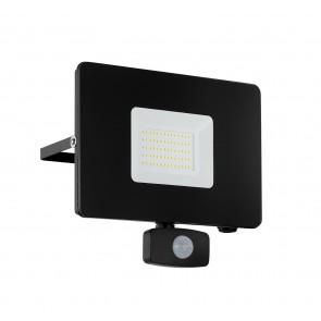 Faedo 3, LED, mit Bewegungsmelder, 50W, schwarz