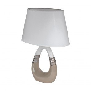 Bellariva 1, taupe/weiß/chromfarben, Keramik