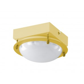 Toulouse, Messing-matt, DM16cm, inkl. LED, ohne Schirm