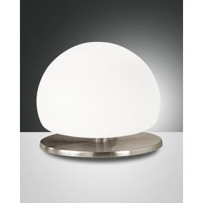 Morgana Halogen, nickel satiniert, geblasenes Glas, weiß, 1X40W