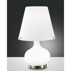 Ade Halogen, weiß/nickel satiniert, geblasenes Glas, weiß, 1X25W, 1X60W