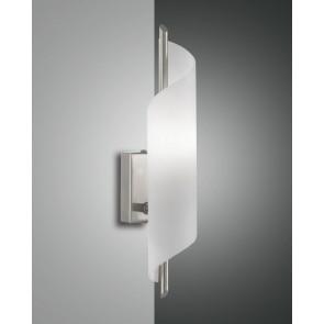 Kerry Halogen, nickel satiniert, geblasenes Glas, weiß, 1X60W