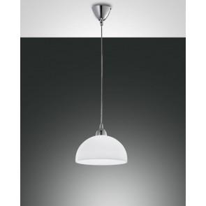 Nice, verchromt, zentrifugiertes Glas, weiß, 1X60W