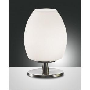 Rockford Halogen, nickel satiniert, geblasenes Glas, weiß, 1X40W