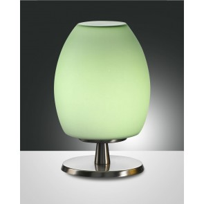 Rockford Halogen, nickel satiniert, geblasenes Glas, apfelgrün, 1X40W