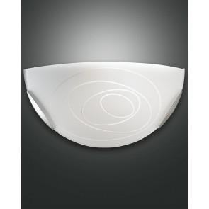 Kent, weiß/nickel satiniert, Glas, weiß mit Dekor, 1X60W