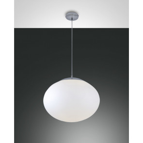 Melody Ø 47 cm weiß 1-flammig kugelförmig