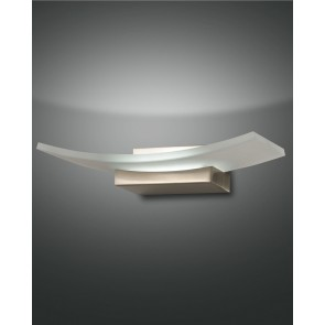 Bar LED, nickel satiniert, Glas, satiniert, 1200lm, 1x12W