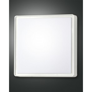 Oban LED, weiß, Kunststoff, weiß, 2400lm, 1x27W