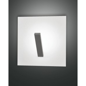 Agia LED, weiß, Aluminium/Methacrylat, silber/satiniert, 1000lm, 12W