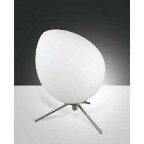 Evo LED, nickel satiniert, geblasenes Glas, weiß, 500lm, 6W