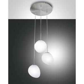 Evo LED, nickel satiniert, geblasenes Glas, weiß, 1500lm, 18W