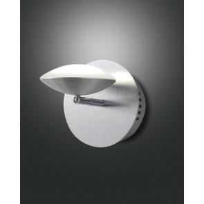 Hale LED, Aluminium gebürstet, chrom, Methacrylat, satiniert, 700lm, 8W