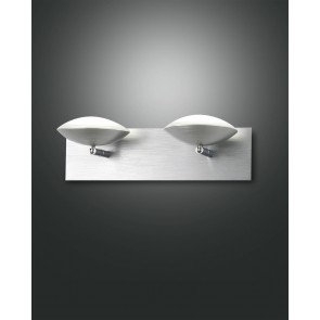 Hale LED, Aluminium gebürstet, chrom, Methacrylat, satiniert, 1400lm, 16W