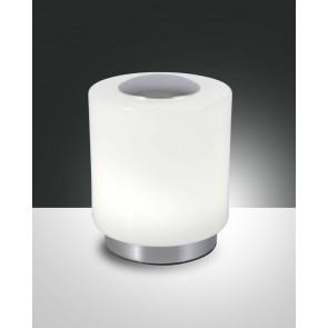 Simi LED, verchromt, geblasenes Glas, weiß glänzend, 700lm, 8W