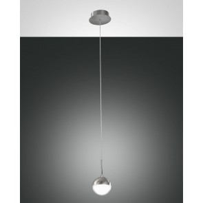 Melville LED, nickel satiniert, Methacrylat, transparent/satiniert, 700lm, 8W