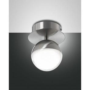 Melville LED, nickel satiniert, Methacrylat, transparent/satiniert, 700lm, 8W