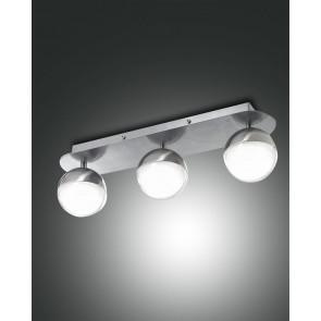 Melville LED, nickel satiniert, Methacrylat, transparent/satiniert, 2100lm, 24W