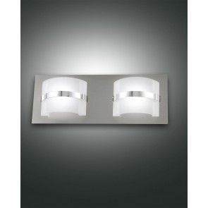 Niside LED, nickel satiniert, Gepresstes Glas/chrom, weiß satiniert/chrom, 900lm, 10W