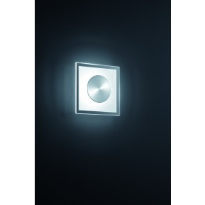 Alide, 20 x 20 cm, inkl LED, nickel matt