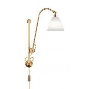 BL5 Wall Lamp, Ø 16, Brass base, Bone China shade
