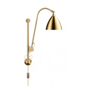 BL5 Wall Lamp, Ø 16, Brass base, Brass shade