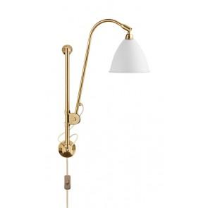 BL5 Wall Lamp, Ø 16, All Brass base, Matt White shade