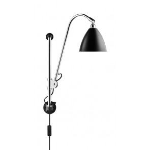 BL5 Wall Lamp, Ø 16, Chrome Base, Black shade