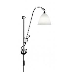 BL5 Wall Lamp, Ø 16, Chrome Base, Bone China shade