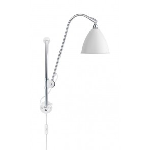 BL5 Wall Lamp, Ø 16, Chrome Base, Matt White shade