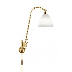 BL6 Wall Lamp, Ø 16, All Brass base, Bone China shade