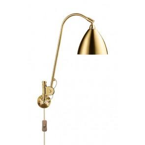 BL6 Wall Lamp, Ø 16, All Brass base, Brass shade
