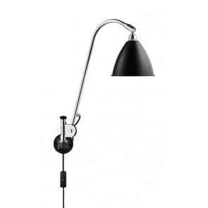 BL6 Wall Lamp, Ø 16, Chrome Base, Black shade
