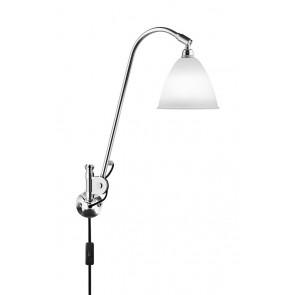 BL6 Wall Lamp, Ø 16, Chrome Base, Bone China shade