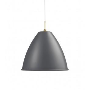 BL9 Pendant, Ø 60, XL, Brass base, Grey shade