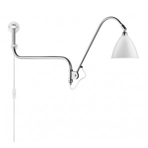 BL10 Wall Lamp, Ø 16, Chrome Base, Matt White shade