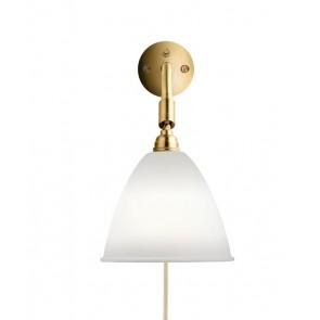 BL7 Wall Lamp, Ø 16, Brass base, Bone China shade