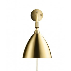 BL7 Wall Lamp, Ø 16, Brass base, Brass shade