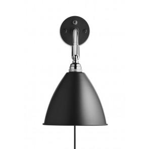 BL7 Wall Lamp, Ø 16, Chrome Base, Black shade