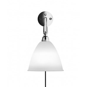BL7 Wall Lamp, Ø 16, Chrome Base, Bone China shade