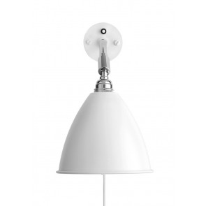 BL7 Wall Lamp, Ø 16, Chrome Base, Matt White shade