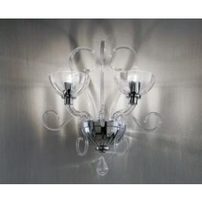 Bolero P2 Wall Lamp Chromed - Trasparent