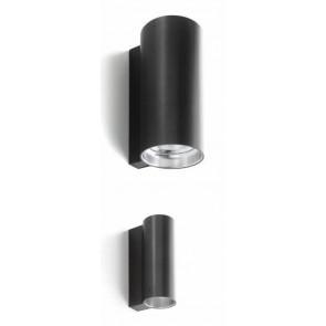E04 IP55, Ø 7 cm, 46,5 cm Höhe, GU53, max 2x35W, anthrazit